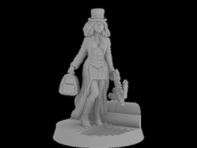 Huntress Haziel on Her Custom Designed Base