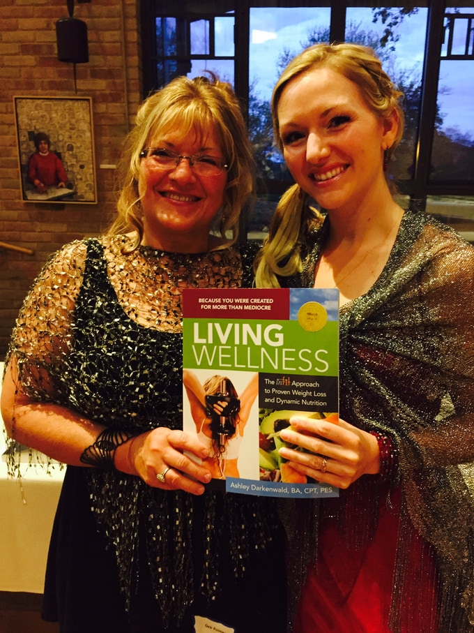 Ashley and her mom at the MIPA awards ceremony. Living Wellness wins gold!