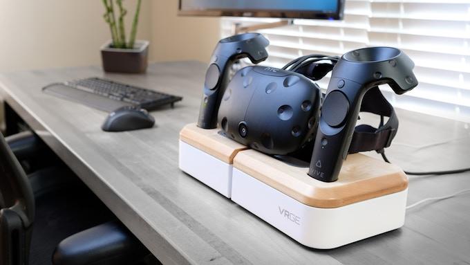 VRGE VR Dock with HTC Vive hardware