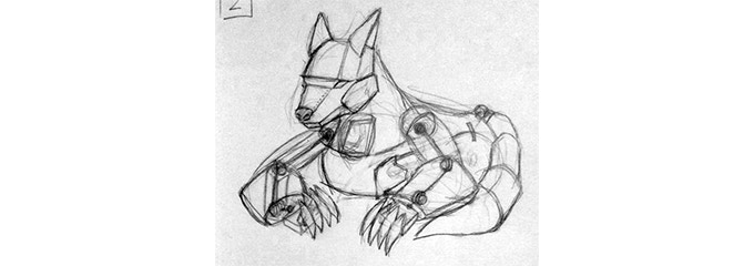 Concept sketch of the corrupted Song of the Wolf.