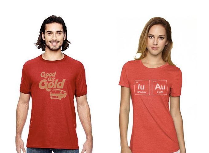 "Every backer gets the comfortable tri-blend ""Elements"" shirt. Level up for the vintage ""Good as Gold"" shirt."