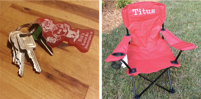 Pledge $500 or more and we'll have a personalized camp chair waiting for you at every game. Pledge $5000 and get your own set of keys to the legendary Hoosier Gold.