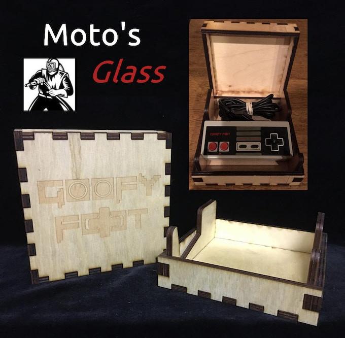 Moto's Glass Laser Cut Wooden Display Box