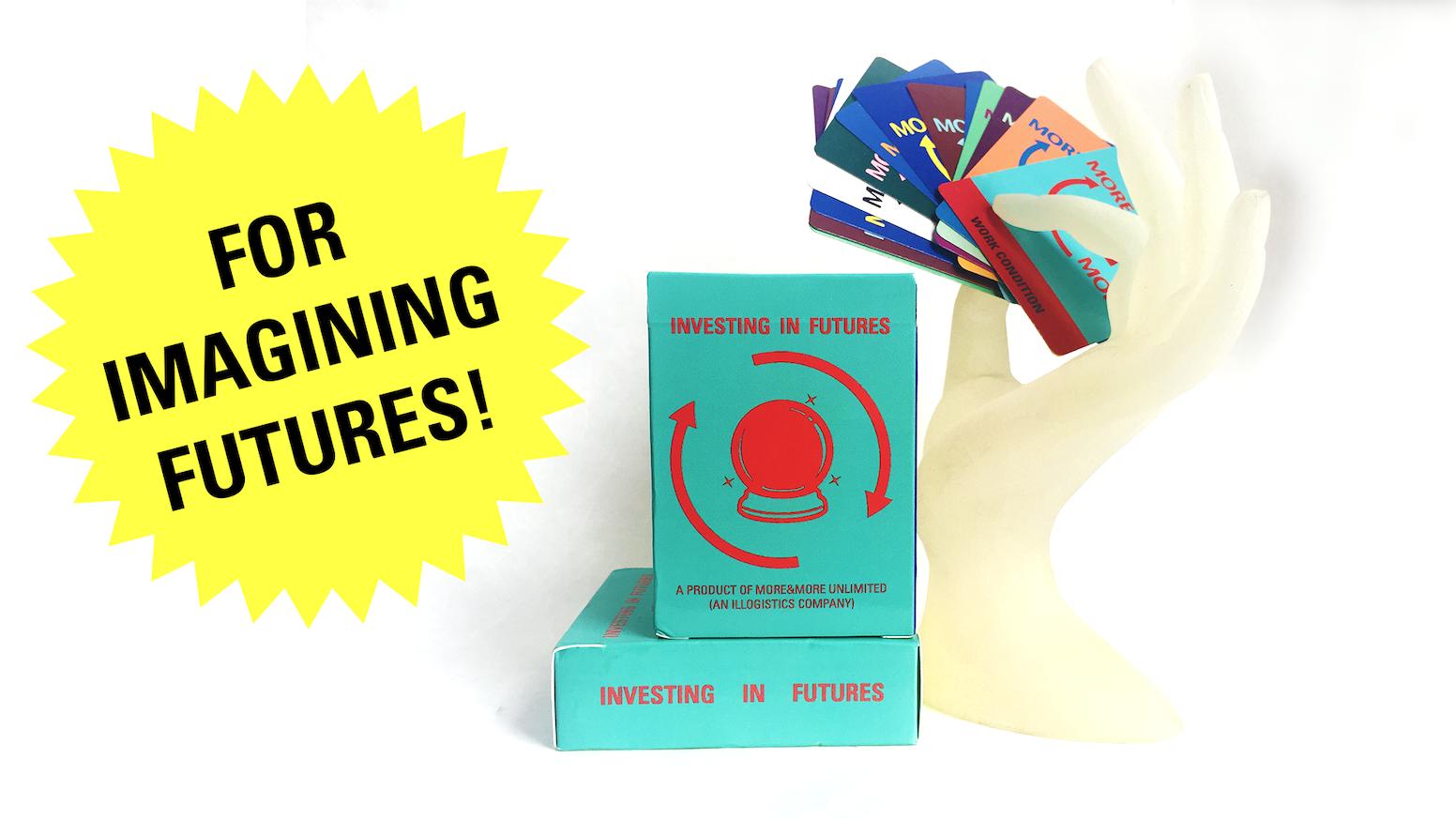 A deck of  cards, world-building workshops, and artworks designed to help you imagine alternative global futures.