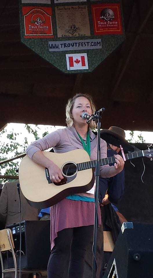 Me performing at the Trout Forest Music Festival in Ear Falls, ON., August, 2016.