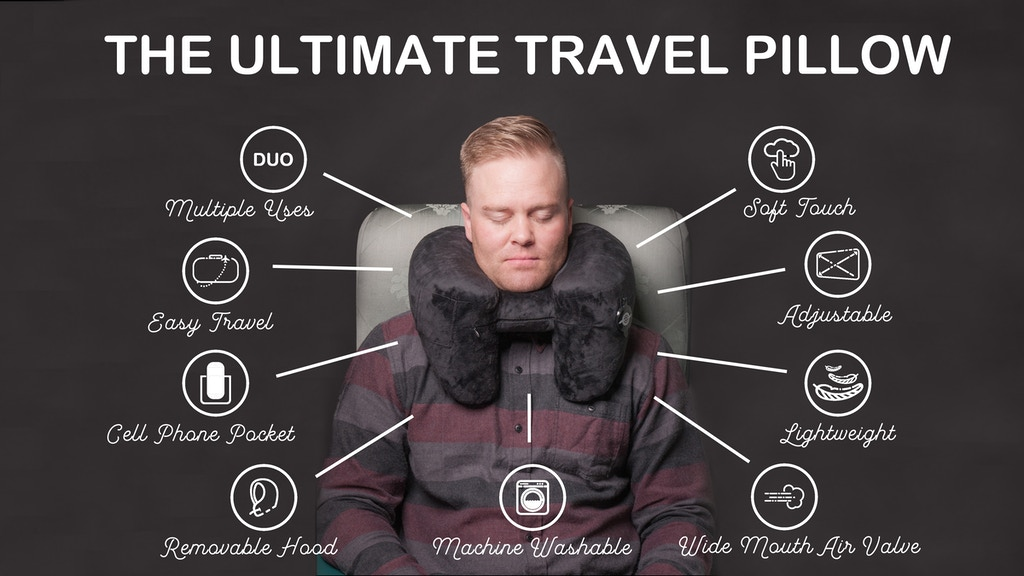 The Worlds best TRAVEL PILLOW: 9 features packed in 1 pillow project video thumbnail