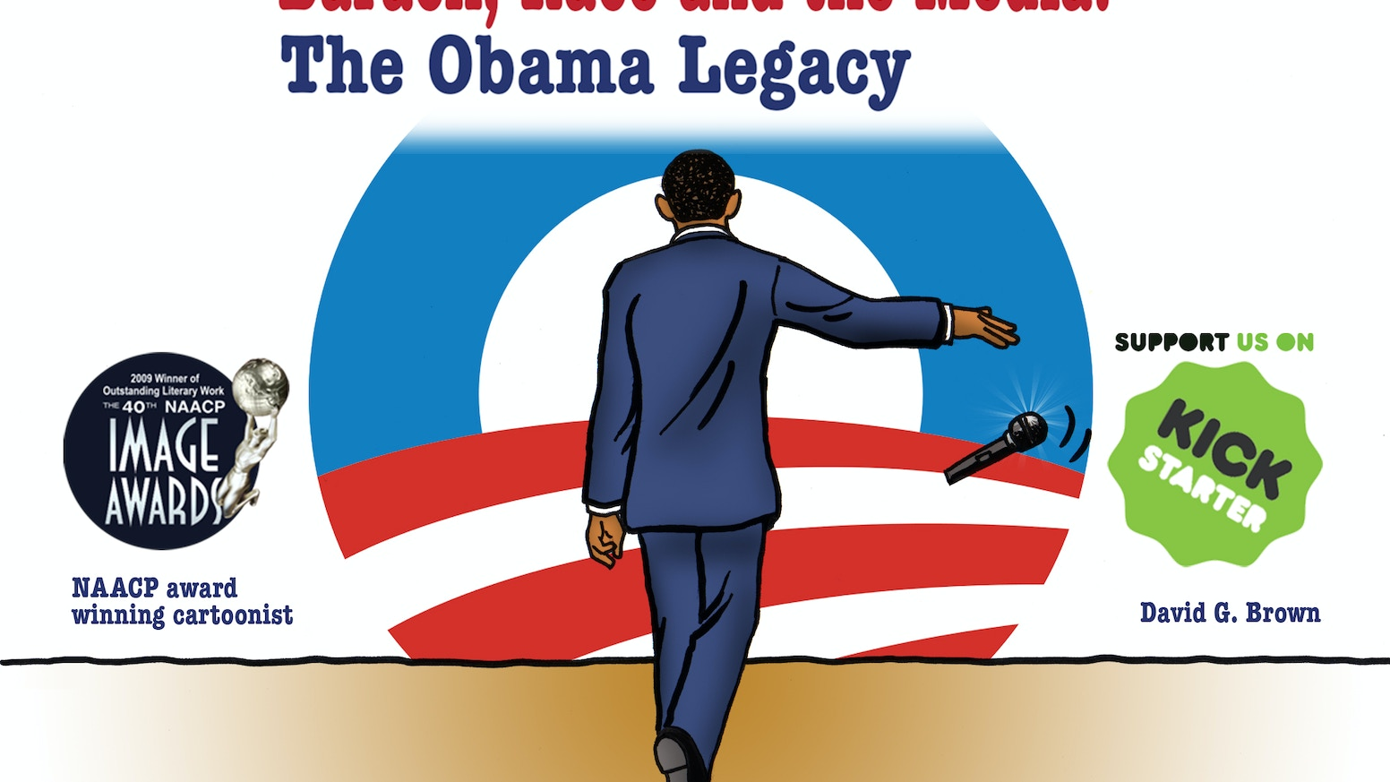Political cartoon book focusing on the journey and legacy of the first American American President Barack Hussein Obama. Now available on Amazon