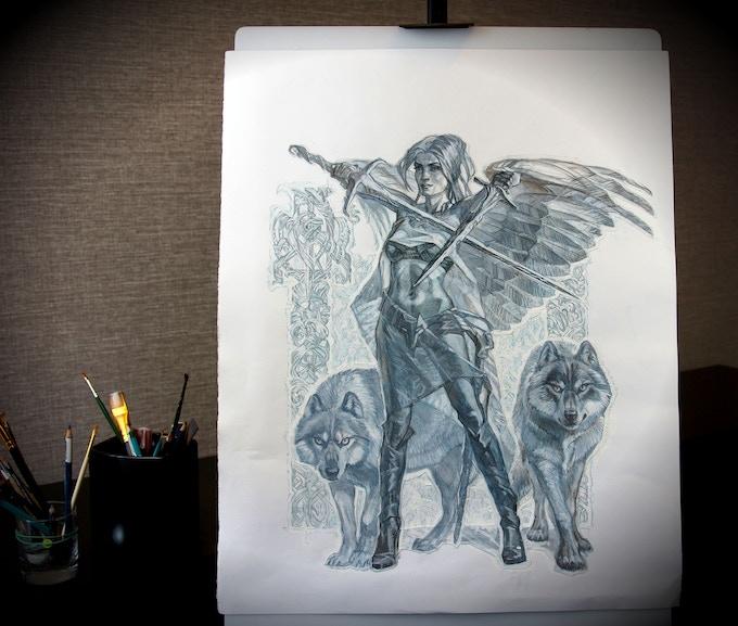 Close Up On Logo Mockup On Black Paper: HEROES Of The NATIONS By Timothy Kremer Kickstarter