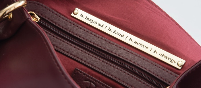 A luxury vegan handbag company that donates 10% of each sale to Operation Underground Railroad, a nonprofit that works to rescue children from sex trafficking.
