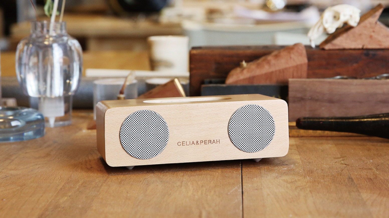 The handcrafted solid wood cabinet coupled with drivers and electronics bring you sound like you have never heard before.