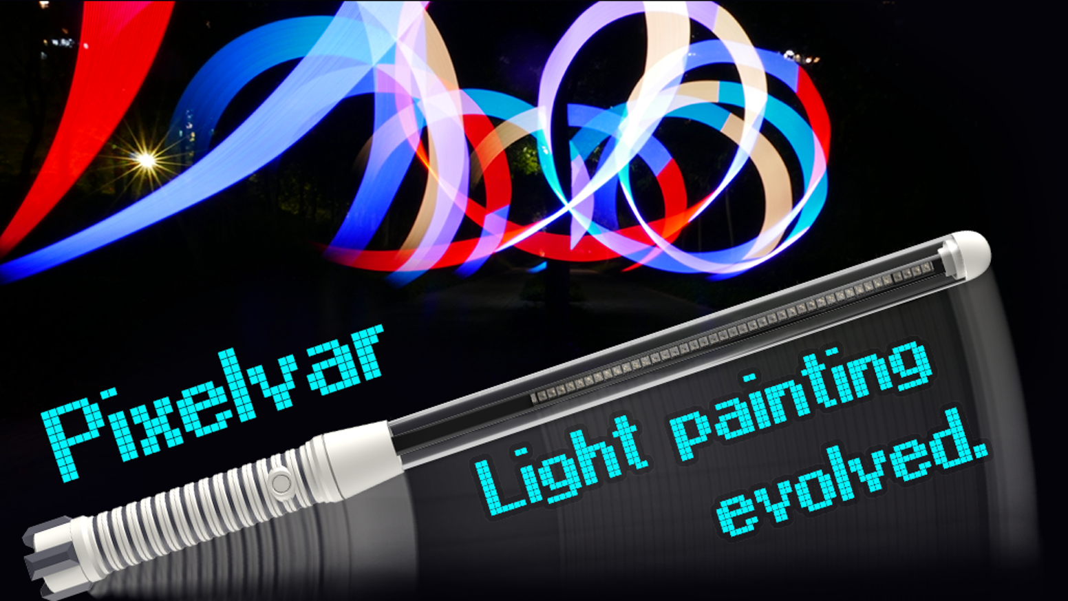 Pixelvar is APP controlled handheld LED POV display. Wave it to see your image in mid air! For players and party.