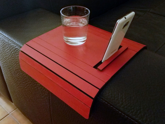 Atos Arm Rest Table With Phone And Tablet Stand By