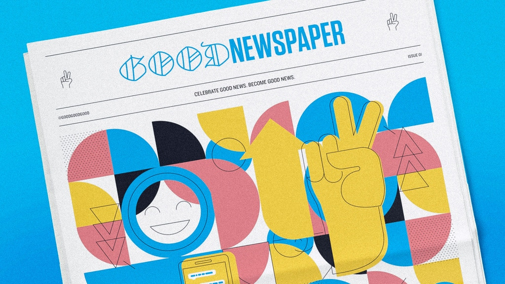 Goodnewspaper - A printed newspaper full of good news project video thumbnail