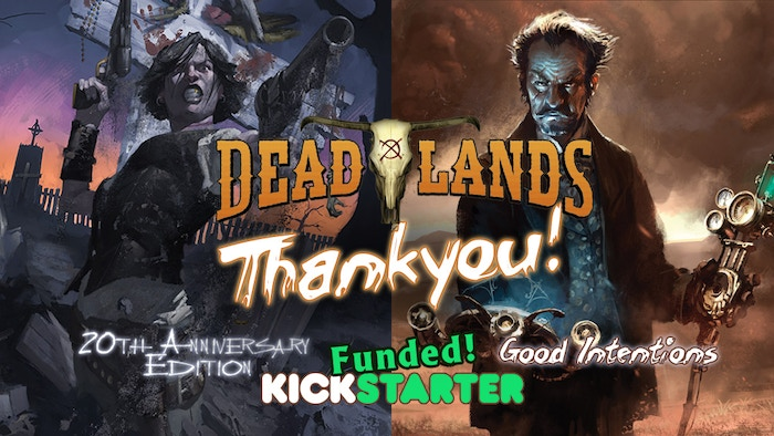 20th Anniversary Edition of Deadlands Classic re-released as a full color hardcover, and as a Collector's Boxed Set!