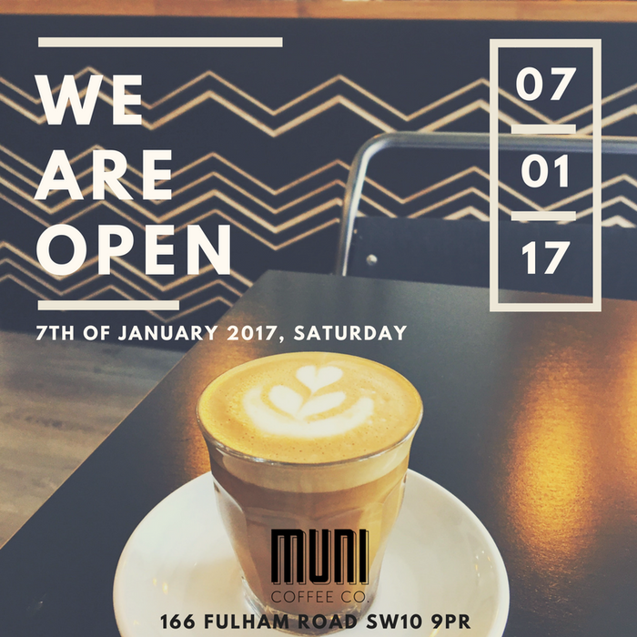 Muni will be a unique addition to London's independent coffee shop scene.By bringing you Philippine's finest beans, food, & culture. We are opening in Chelsea on the 11th of June.