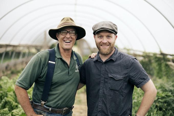 Myself and Joel Salatin at his farm in Virginia
