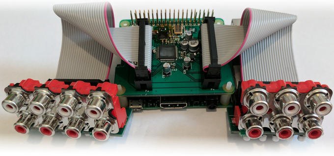 Audio Injector Octo multichannel sound for the Raspberry Pi by