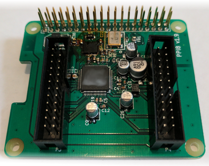 Audioinjector Octo sound card - make your own breakout.