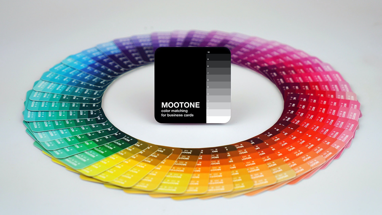 Mootone Color Matching System For Moo Cards By Jonathan Bobrow
