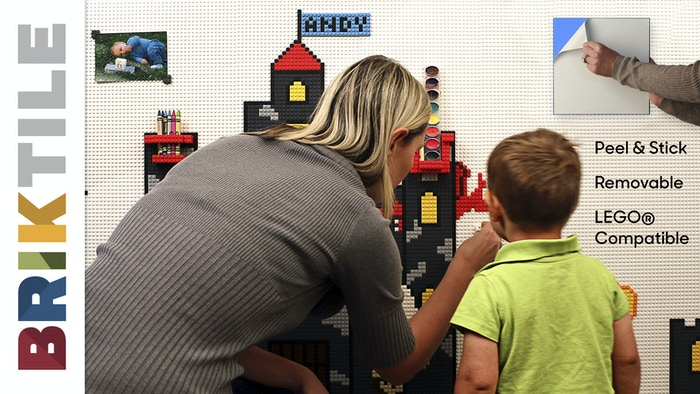 Make your walls Lego™ compatible in seconds! Peel & Stick. Removable. Build pixel art, shelves, organizers and more! Now available at brik.co