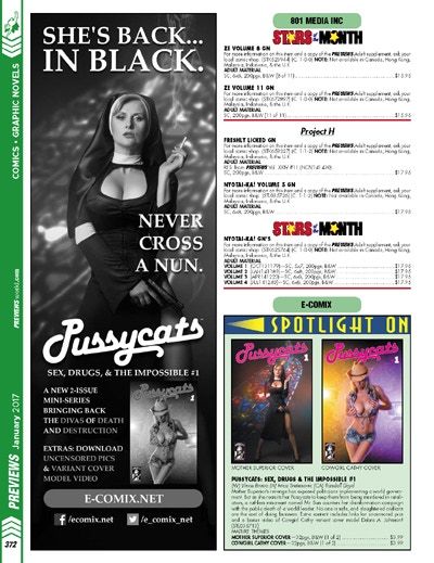 Pussycats: Sex, Drugs, & The Impossible #1 in PREVIEWS Jan. 2017