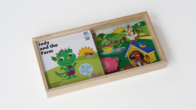 The book and the puzzle in a neat self-contained package