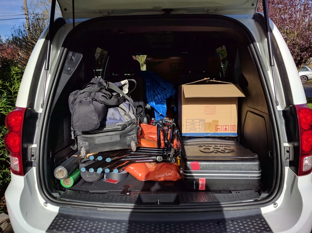 Turns out minivans make solid gear transporters.
