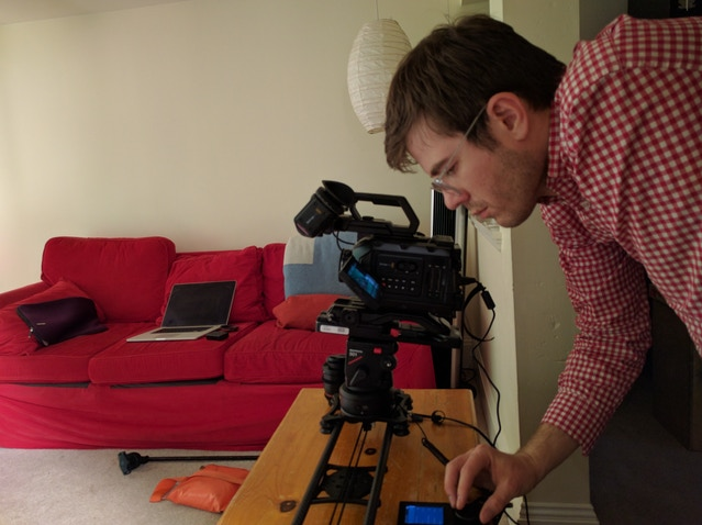 We used a motion slider (with parallax) to shoot the miniatures!