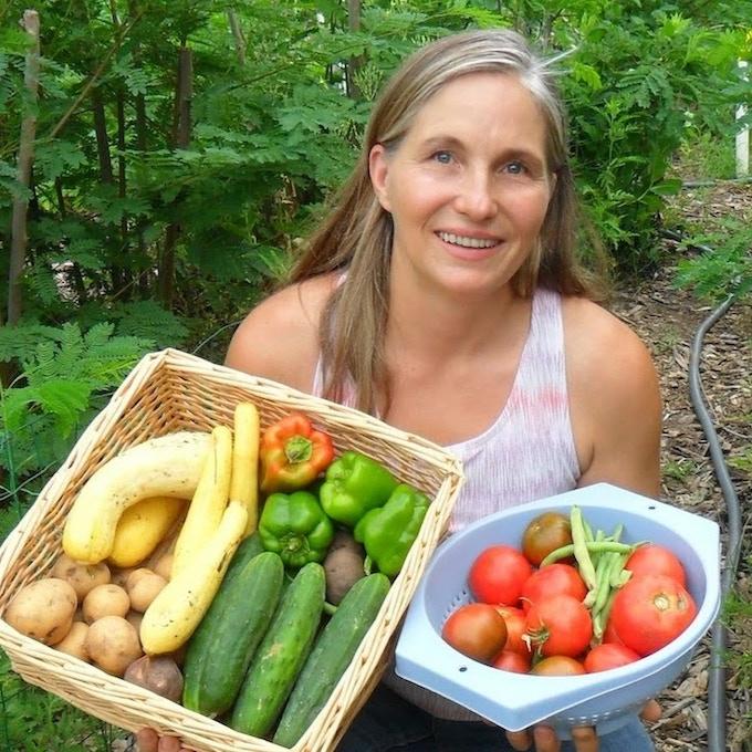 Marjory, growing her own groceries ;)