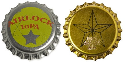 We are still designing our bottlecaps, but fully intend on a variety of terrible puns.