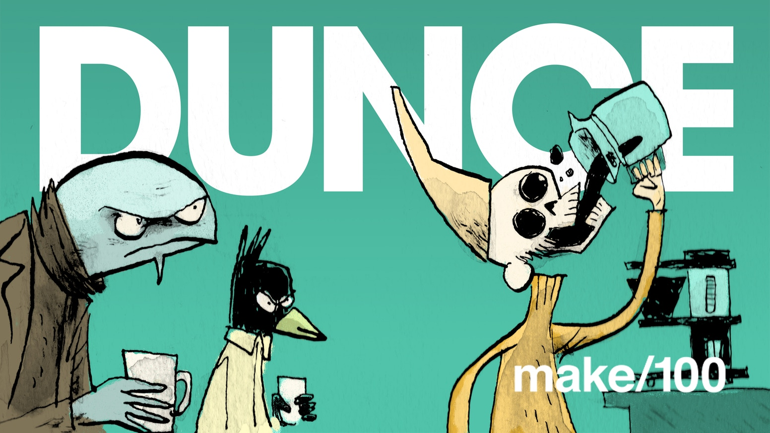 The very first issue of my new comic Dunce! Follow the creation and get the finished result in February/March.