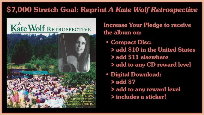 "Album Cover for ""A Kate Wolf Retrospective"" 1996 Festival Recording"
