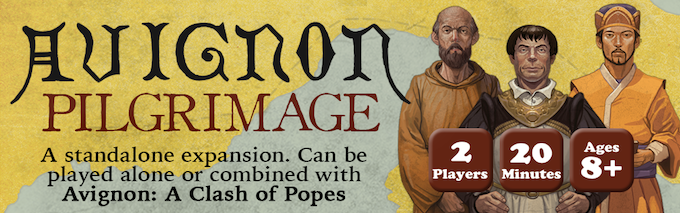 Image result for avignon a clash of popes kickstarter, the game steward