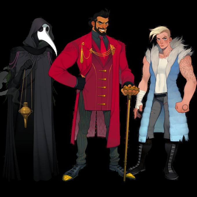 Character designs by Joy Ang