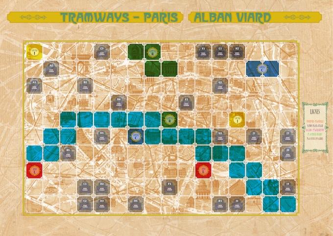 Tramways Paris Map
