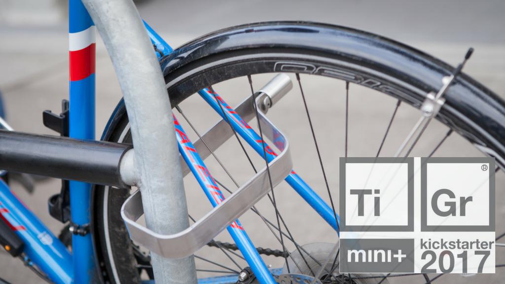 TiGr mini+ Titanium Bike Lock: Strong, Light, Simply Secure project video thumbnail