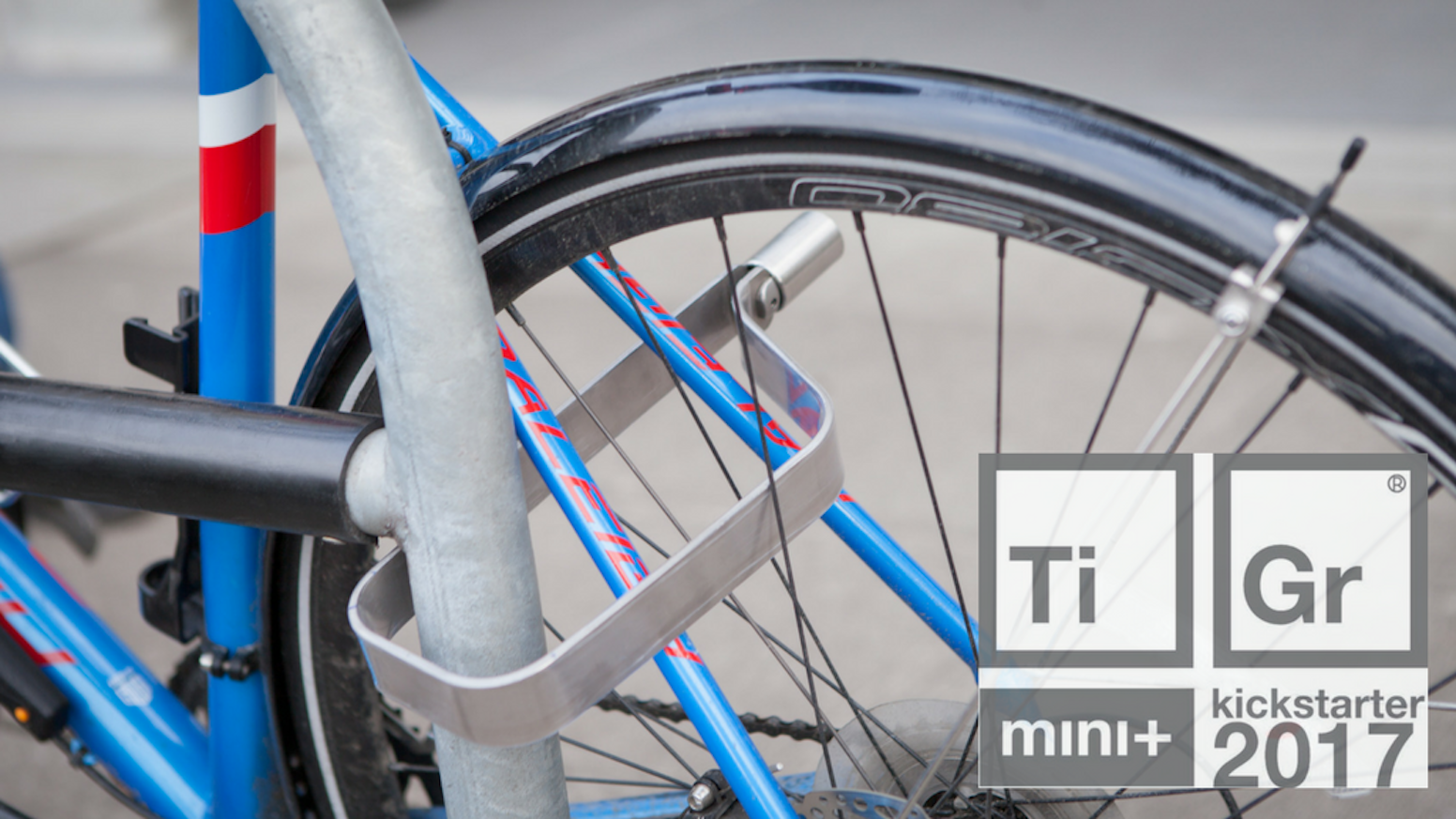 The TiGr mini+ takes strong and lightweight security to the next level with more locking area. The latest in elegant bicycle security.