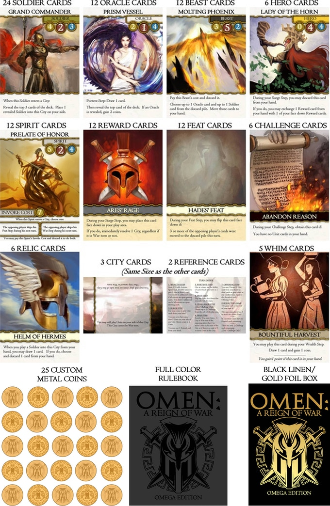 Omen: A Reign of War. Omega Edition Deluxe Components.