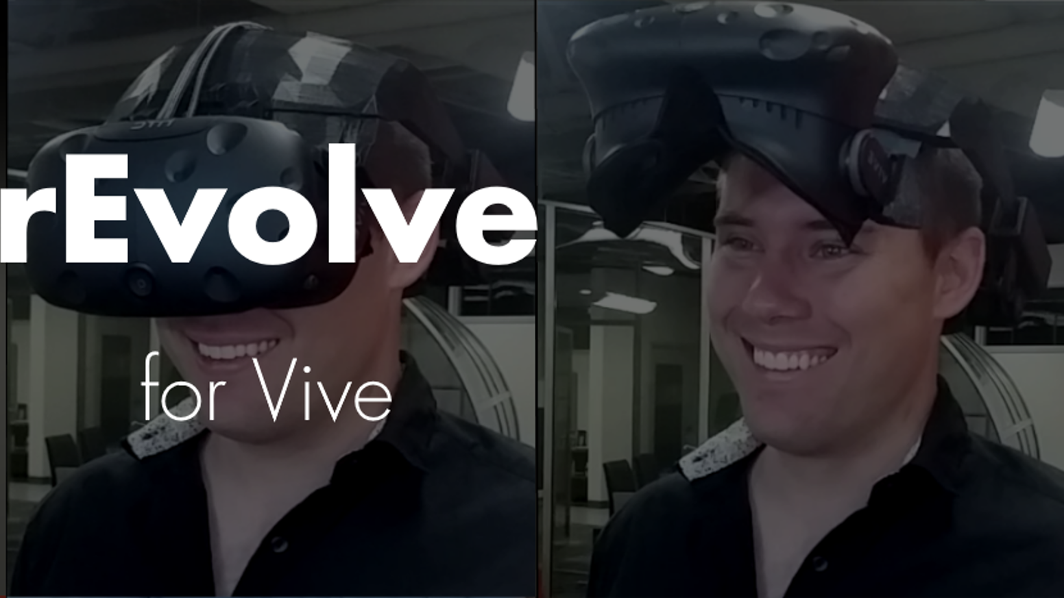 As of 2/9/17 the kickstarter has ended. You can still order the rEvolve at http://www.synergywiz.com/revolve.  The rEvolve is a new standard for VR comfort and convenience with it's flip up display and perfectly balanced weight.