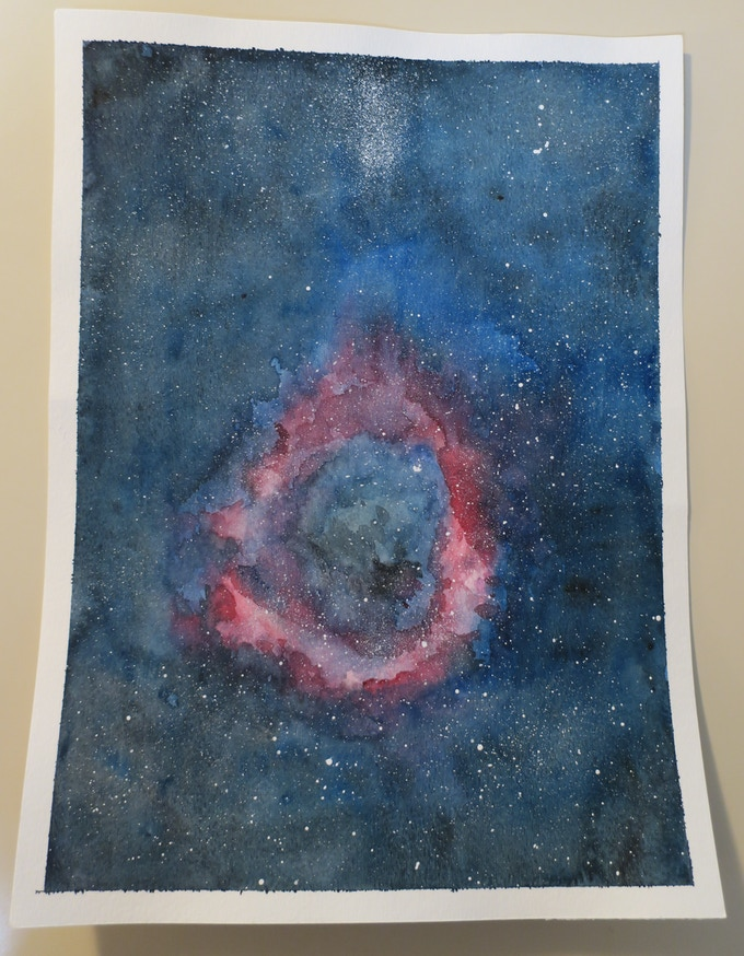 The Galaxy, painted by Shannon Lentz