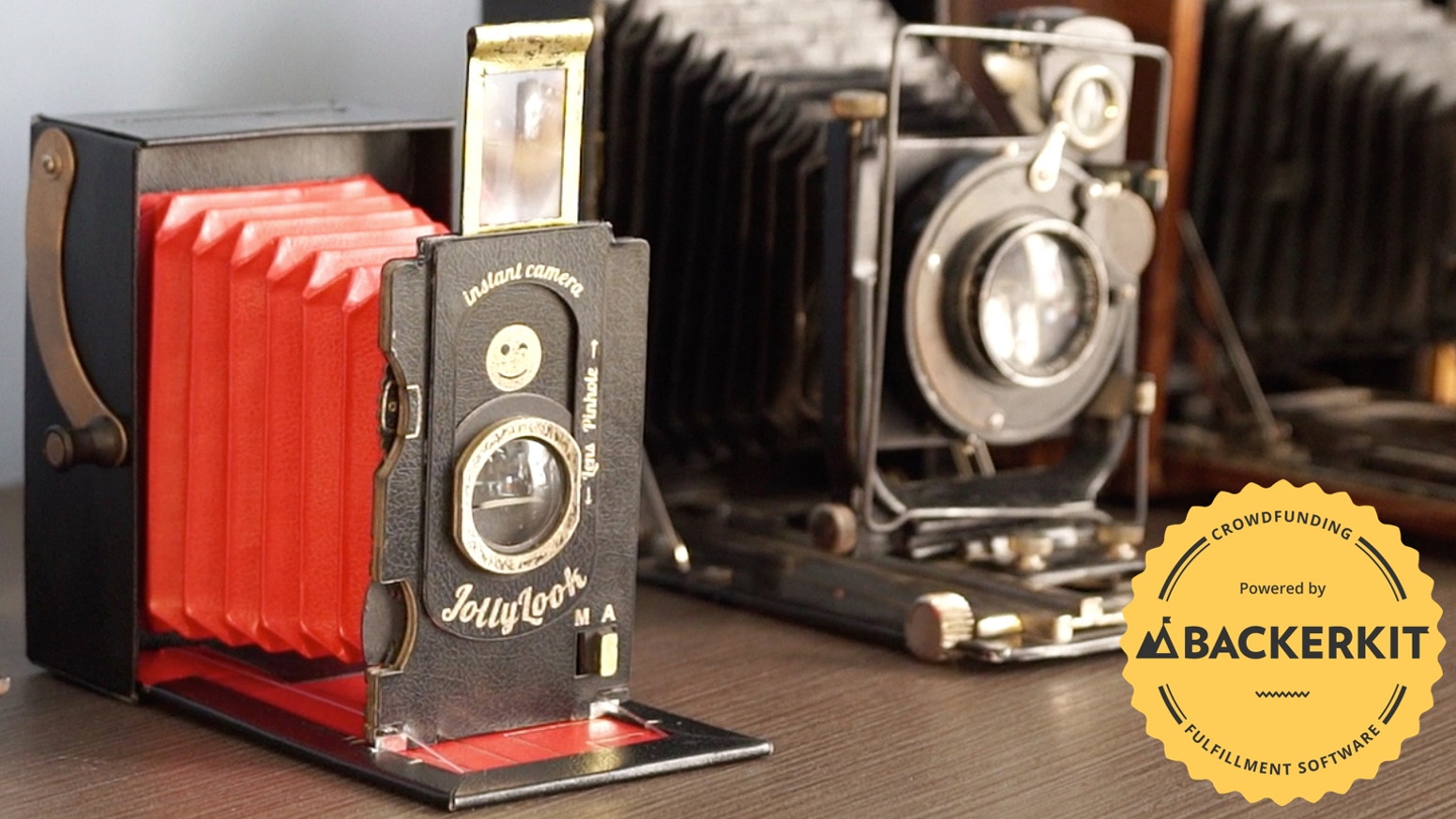 The vintage instant camera that works on Instax mini film, and is made from  recycled