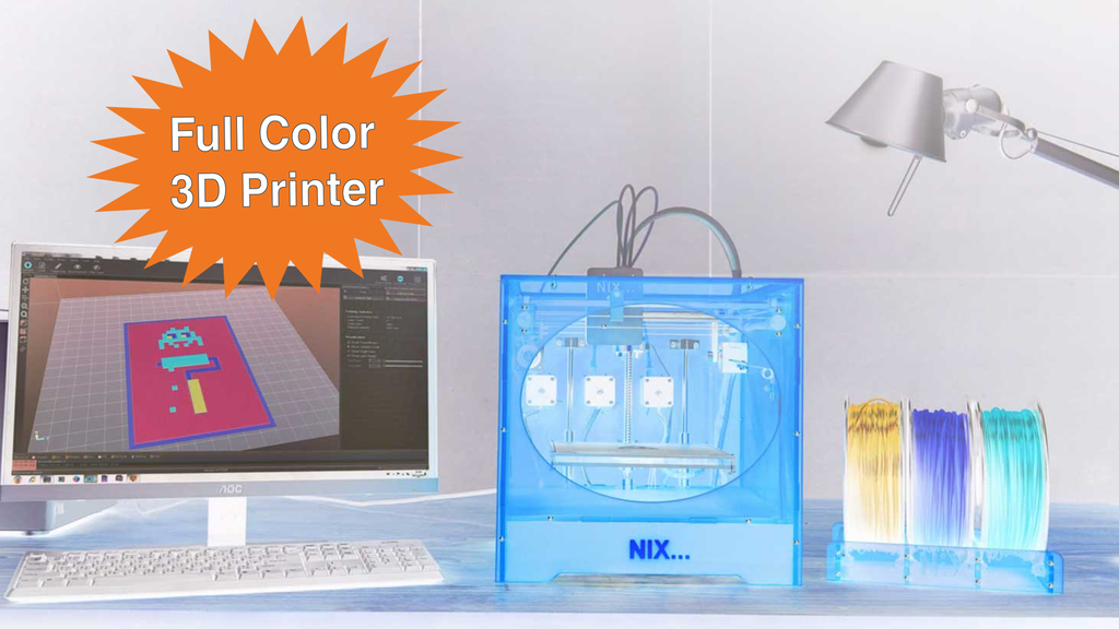A High Resolution Full Color 3D Printer project video thumbnail