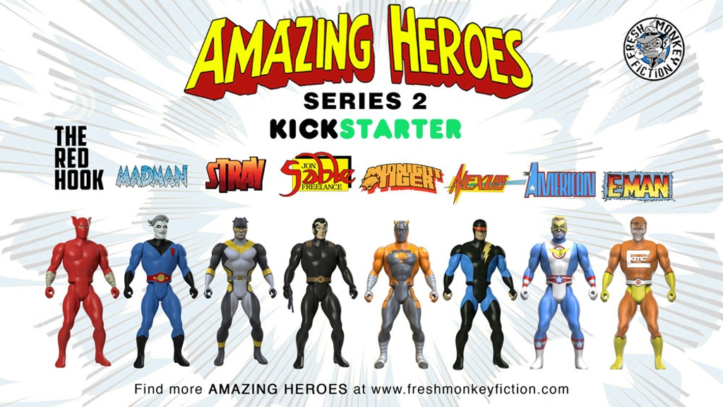 Project image for Amazing Heroes Action Figures Wave 2 (Canceled)