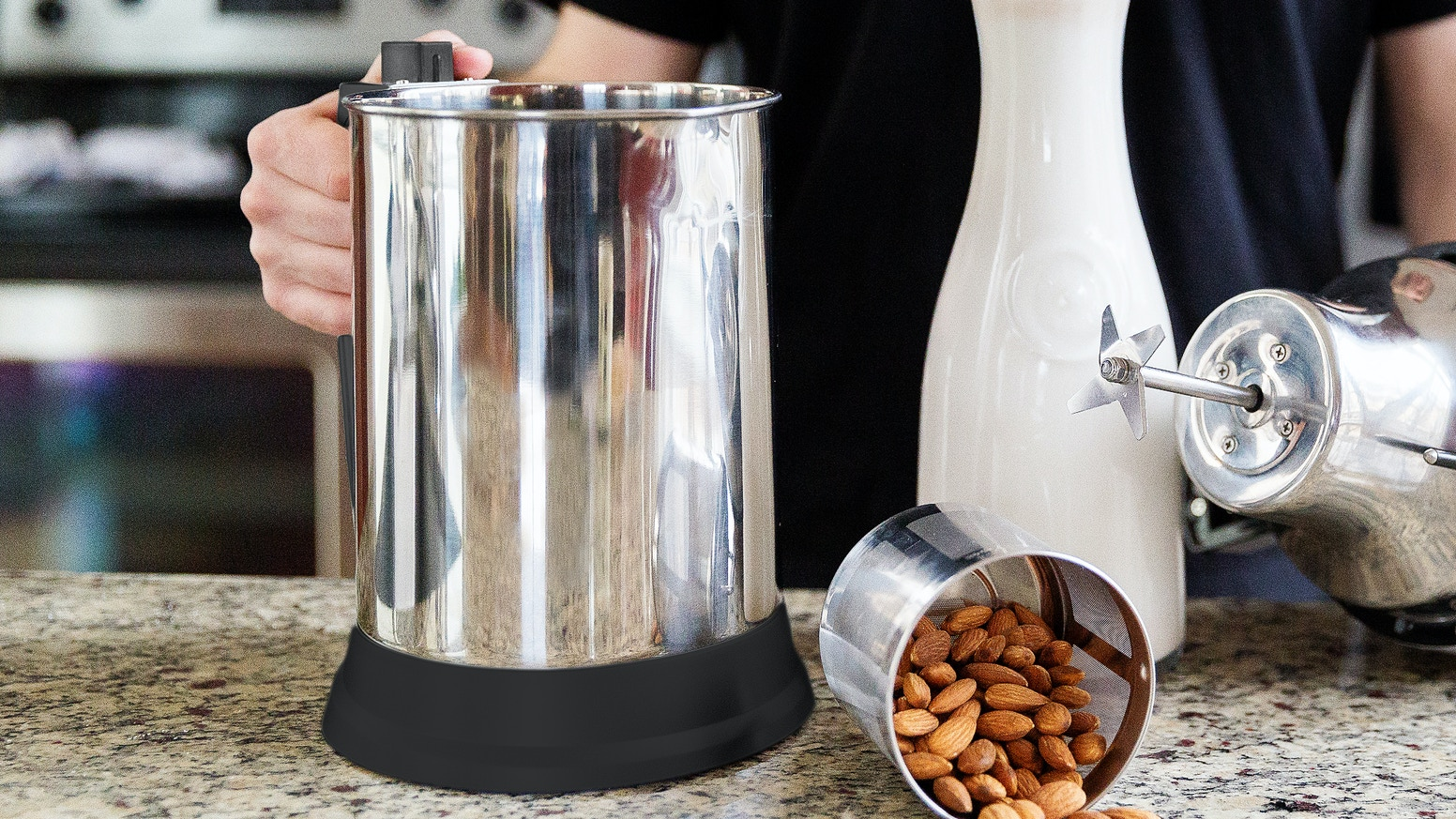 Make almond milk at home without the hassle or the mess
