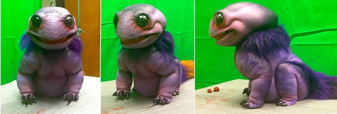 Images of the first Test Puppet for 'Chomperz'