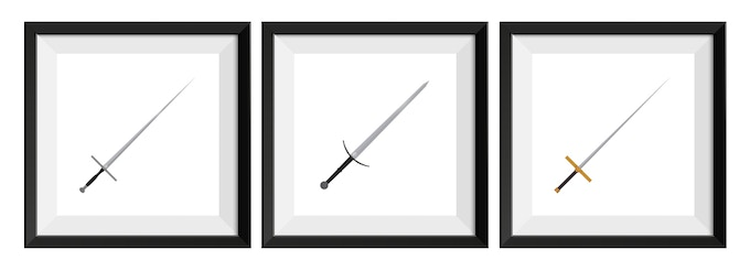 Examples of individually framed Knight Set prints