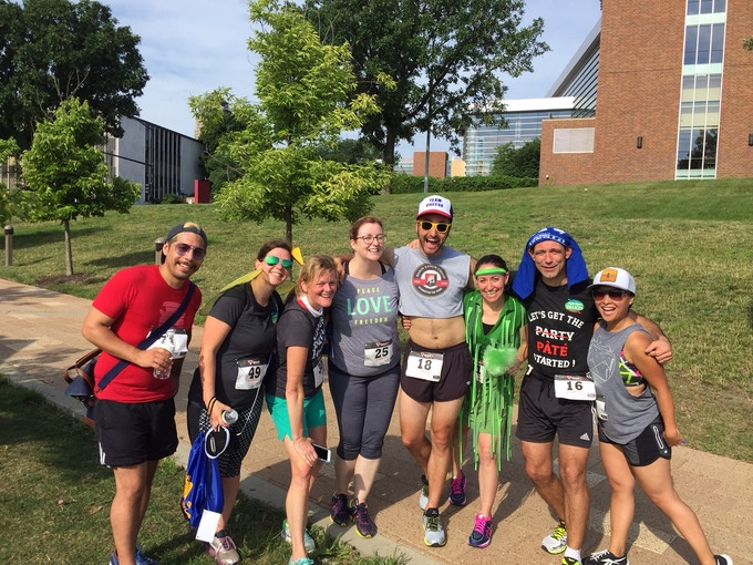 Happy runners after the Run for Cheese 5k