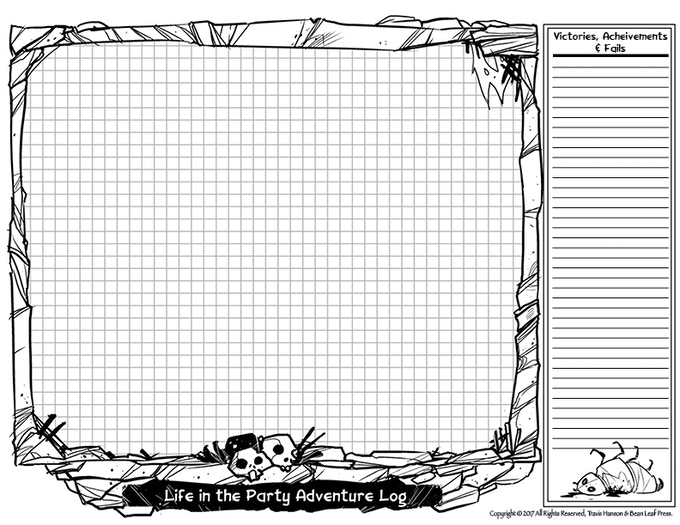 Character Campaign, Quest and Note Sheet (back).
