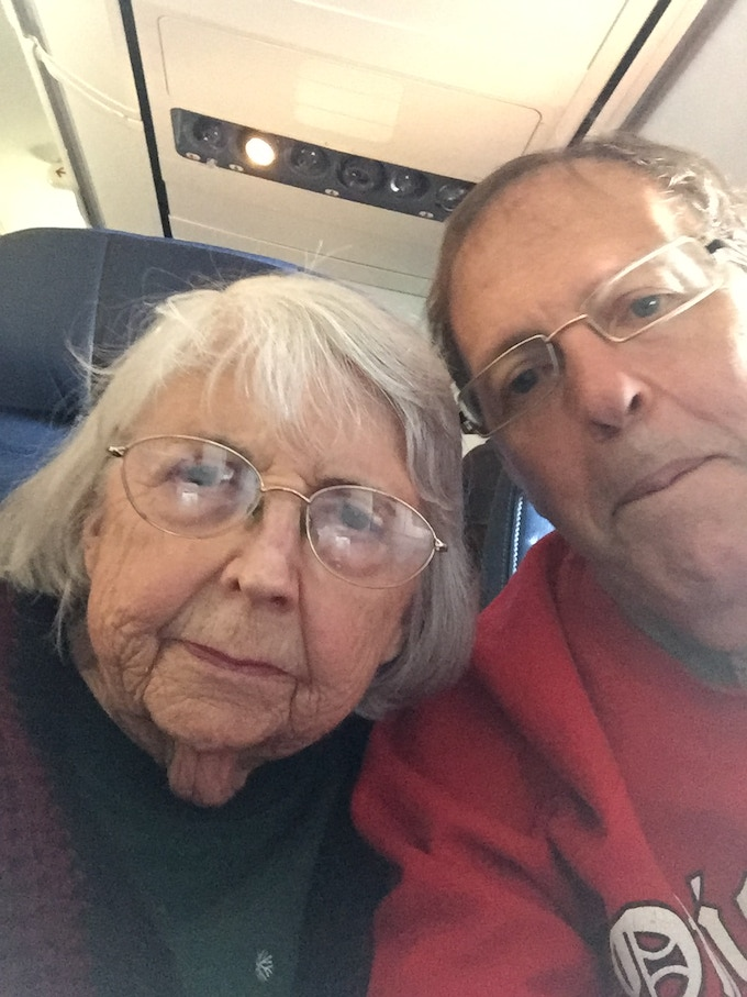 My mother just turned 90 flying to Colorado.