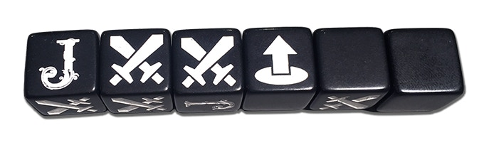 Judgement combat dice allow complex tactical decisions to be made in seconds